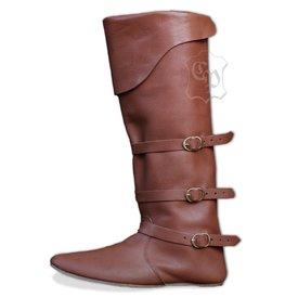 Spätmittelalterliche Stiefel mit Riemen