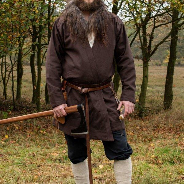 Tidlig middelalderlig kaftan Njord, brun