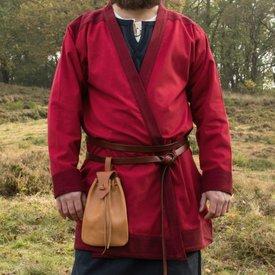 Caftano del Medioevo antico Njord, rosso