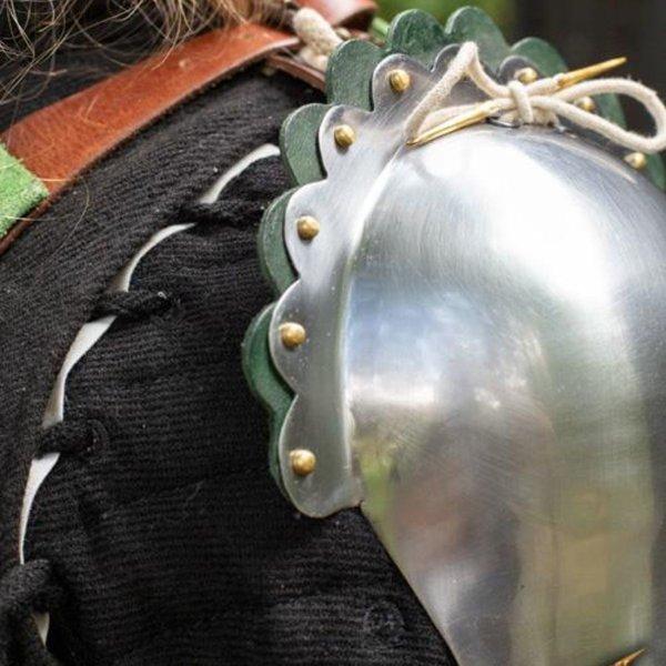 Epic Armoury Geschulpt schouderpantser, groen