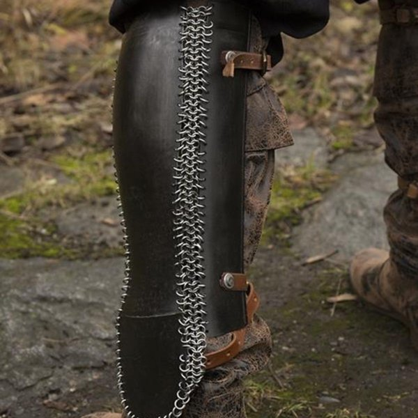 Epic Armoury Persian greaves, bronzed