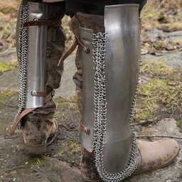 Persian greaves, polished