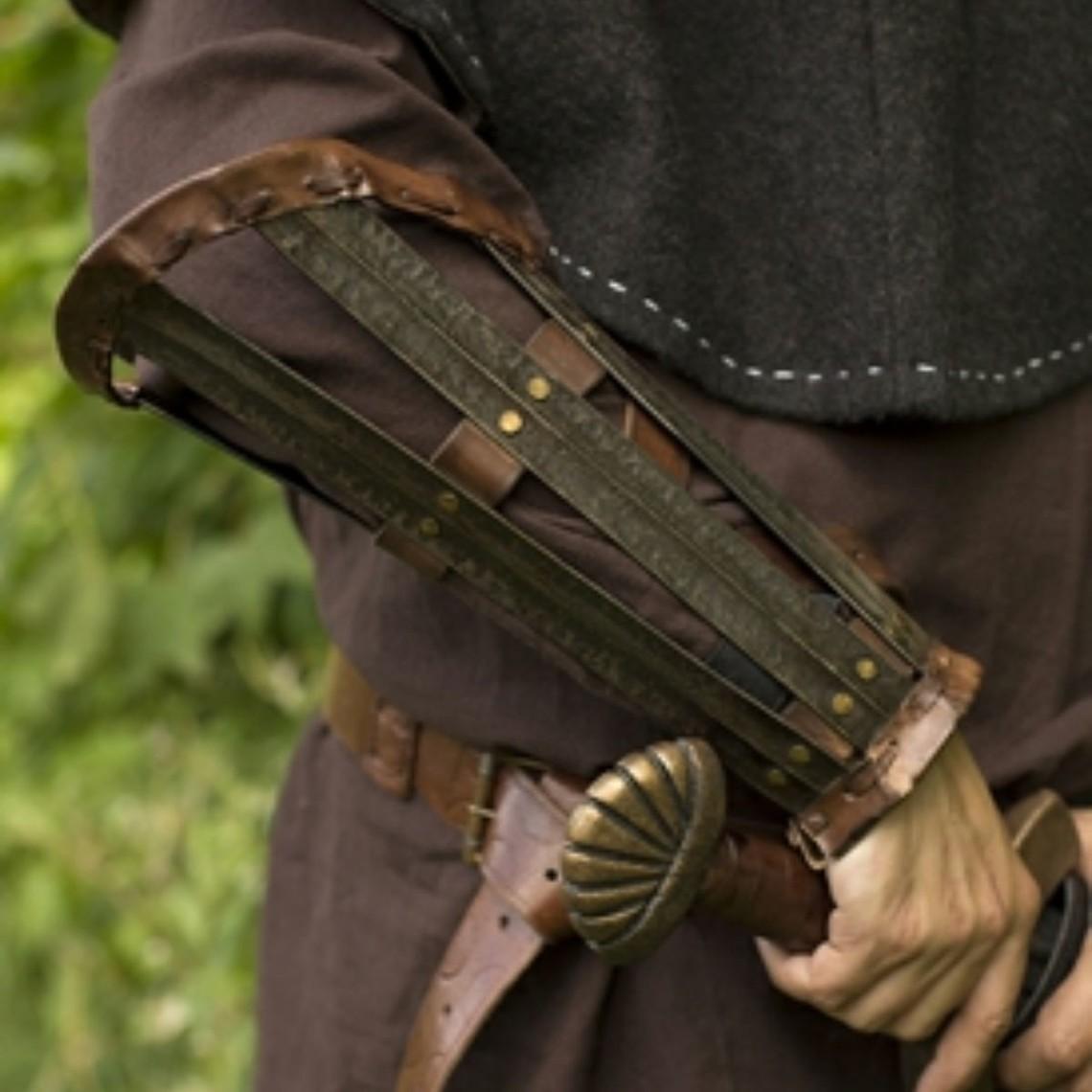 Epic Armoury Viking armbeschermers, gepatineerd