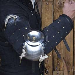 15. århundrede stål-læder armværn, sort