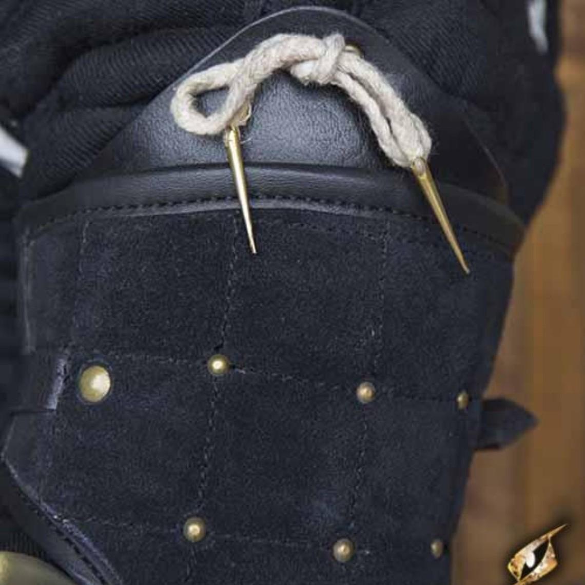 Epic Armoury 15. Jahrhundert Stahl-Leder Armschutz, schwarz