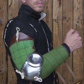 Epic Armoury Protège-bras en cuir et acier du XVe siècle, verts