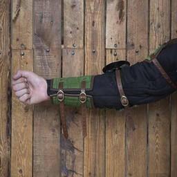 XV-wieczne stalowe osłony ramion, zielone