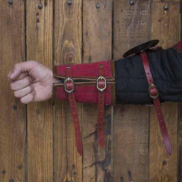 Epic Armoury 15. århundrede stål-læder armværn, rød