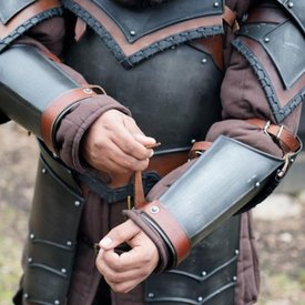 Epic Armoury Rogue onderarm/elleboogbeschermers, gepatineerd