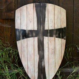Epic Armoury LARP kite shield black cross