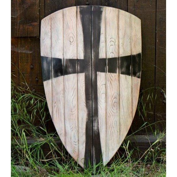 Epic Armoury LARP Kite schwarzes Kreuz abzuschirmen