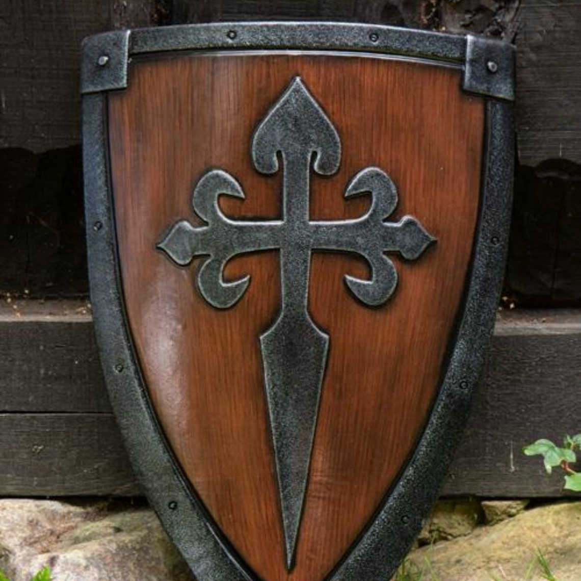 Epic Armoury acero-madera escudo LARP cometa