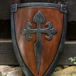 stalowo-drewniane LARP kite shield