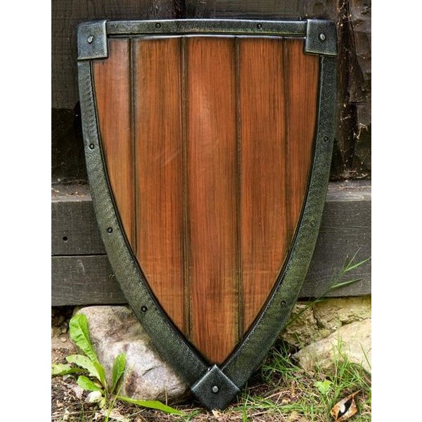 Epic Armoury LARP kite shield steel-wood