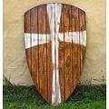 Epic Armoury LARP cometa madera escudo con la cruz blanca
