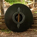 Epic Armoury LARP rondschild, rood-hout 50 cm