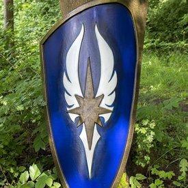 Epic Armoury LARP blå elven sköld, 120 x 55 cm