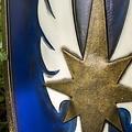 Epic Armoury LARP elvenschild blauw, 120 x 55 cm