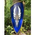 Epic Armoury LARP escudo azul elven, 120 x 55 cm