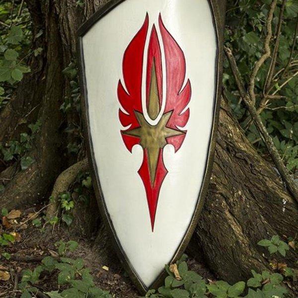 Epic Armoury LARP röd-vit elven sköld, 120 x 55 cm