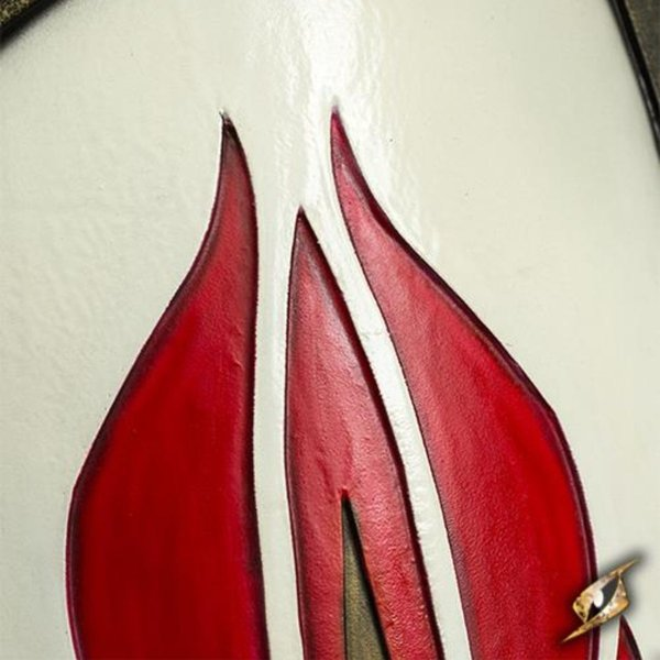 Epic Armoury GN bouclier rouge-blanc elfe, 120 x 55 cm