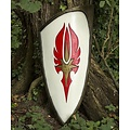 Epic Armoury LARP rojo-blanco elven escudo, 120 x 55 cm