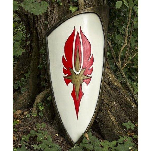Epic Armoury Larp rød-hvid elven skjold, 120 x 55 cm