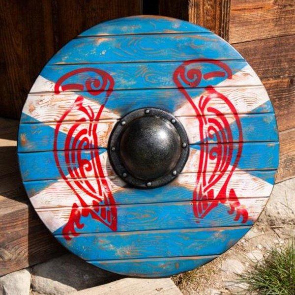 Epic Armoury LARP Viking okrągła tarcza Kruk Odyna
