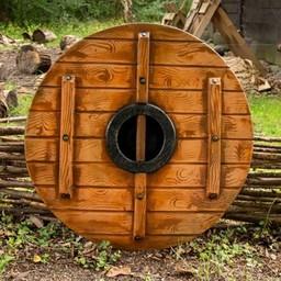 LARP Viking okrągła tarcza Kruk Odyna