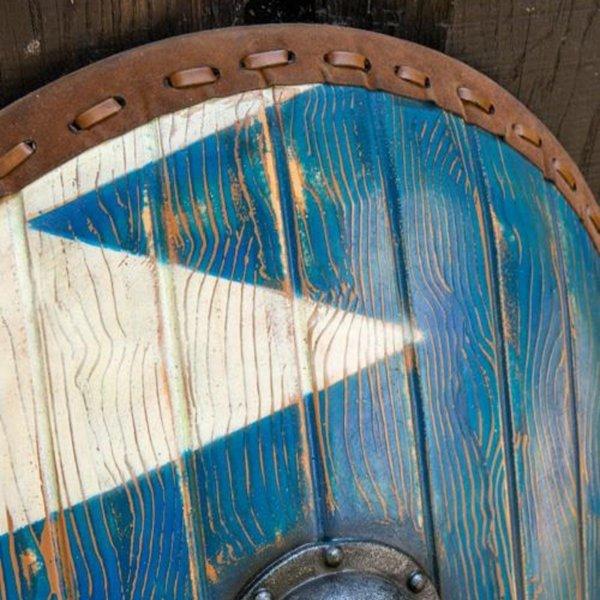 Epic Armoury LARP Norman skjold blå-hvid