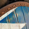 Epic Armoury LARP Normandisch schild blauw-wit