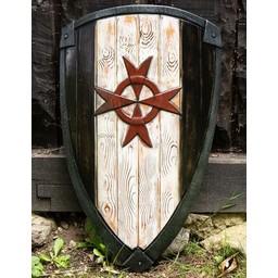 LARP kite shield Knight Templar