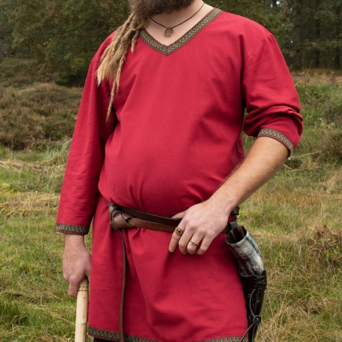 Celtic tunic in red cotton