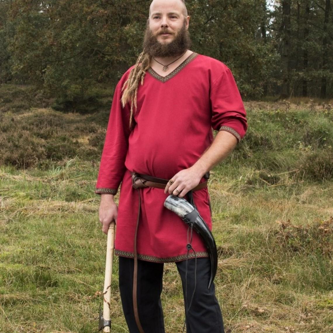 Túnica Viking rojo oscuro