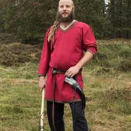 Ciemnoczerwony Viking tunika