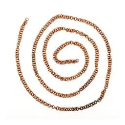 Viking Doppelgliederkette, Bronze, pro cm
