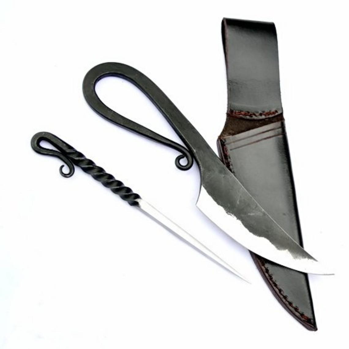 cuchillo germánico y comer selección