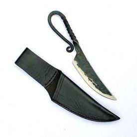 Prehistorical cuchillo con mango trenzado