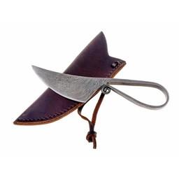 Prehistoryczny nóż ze stali damast