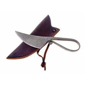 Couteau préhistorique en acier damast
