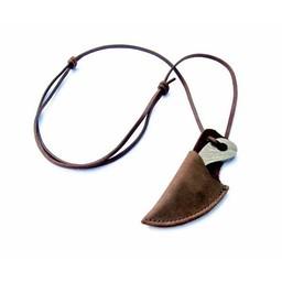 Viking neck knife damascus