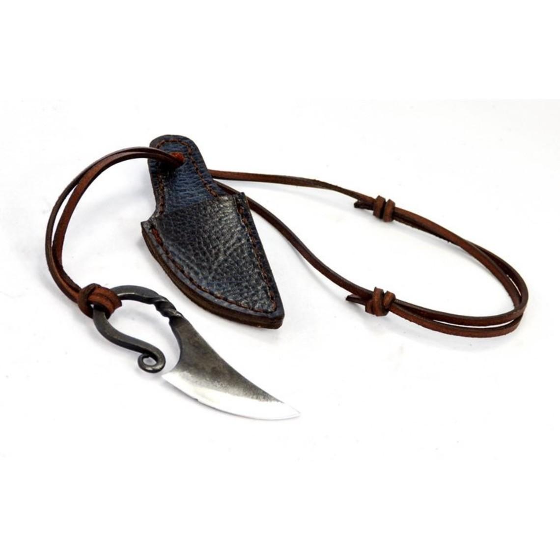acier au carbone couteau de cou Viking