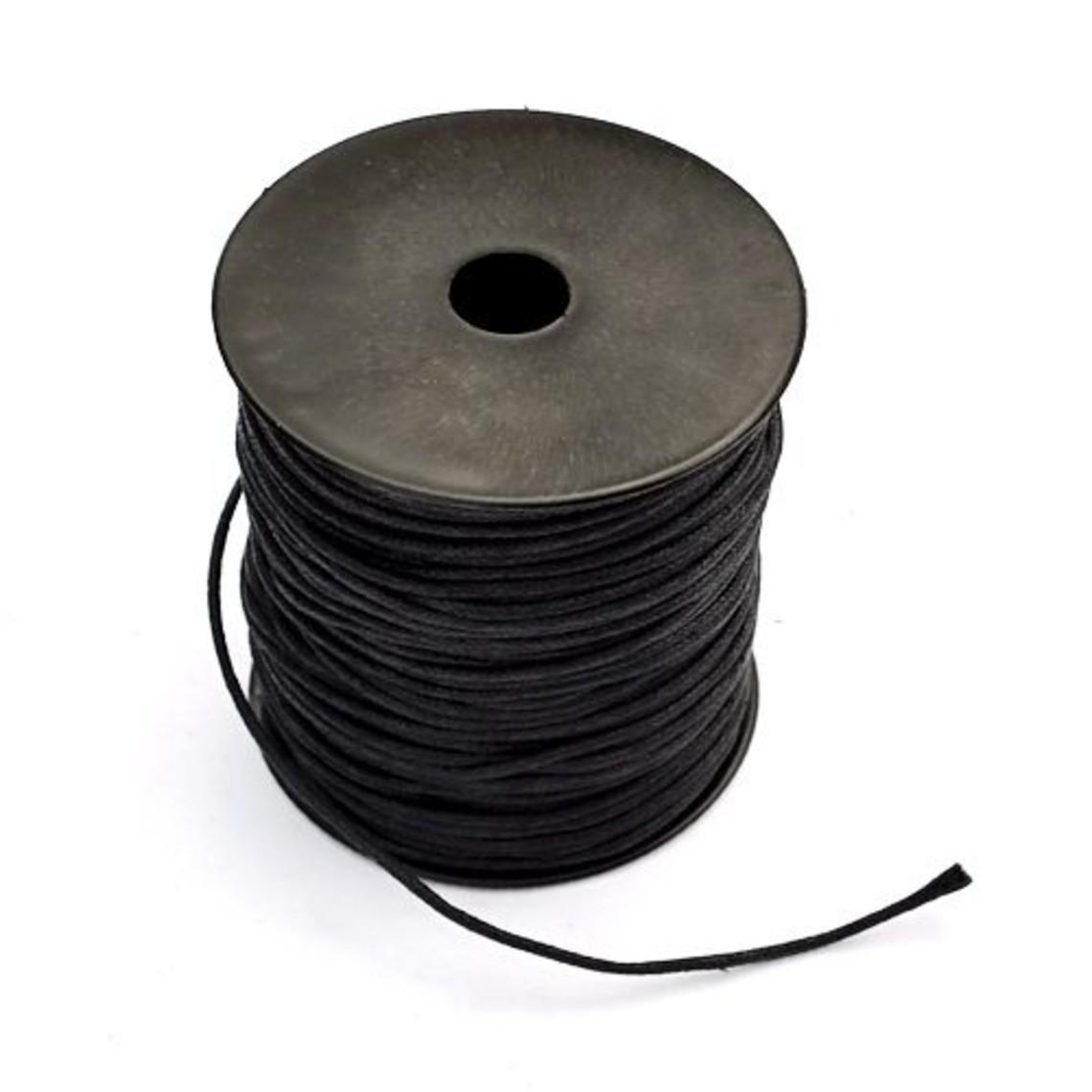 cordón de algodón encerado, 100 m
