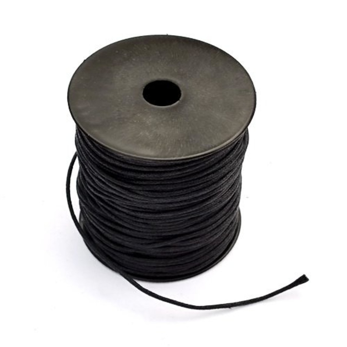 100m leren veter 1mm, zwart