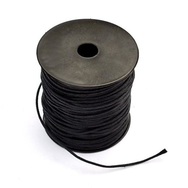 100 metre leather lace 1 mm, black