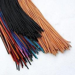 100 metre leather lace 2 mm, black