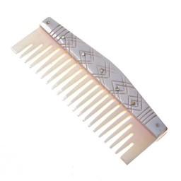 Bone Viking comb with stylized motifs