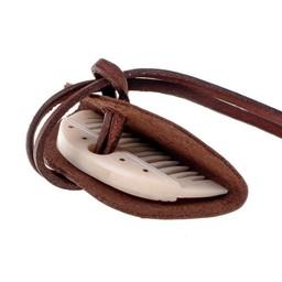 Germanic beard comb with leather sheath