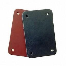 50x Spaltleder rechteckiges Stück für Schuppenpanzer, schwarz