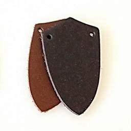 50x split læder skjold-formet stykke for skala rustning, sort